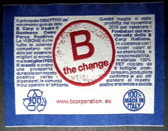 Etichette tessute B the Change