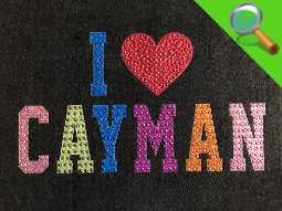 Patch ricamate e in tessuto I Love Cayman