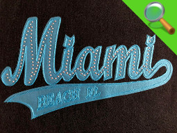 Patch ricamate e in tessuto MIAMI