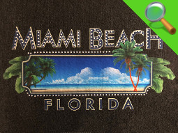 Patch ricamate e in tessuto MIAMI BEACH FLORIDA