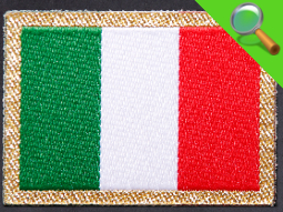 Etichetta Tessuta Bandiera Italiana