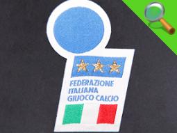 Etichetta tessuca Federazione Italiana Calcio