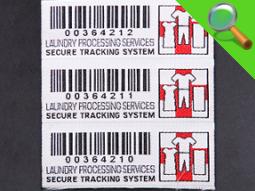 Etichetta tessuta con codice a barre